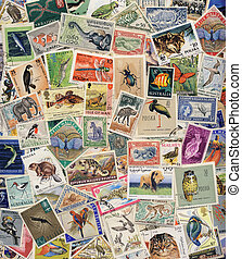 Postage Stamps of Animals, Birds, Insects & Fish - Postage...
