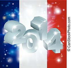 2014 french flag - Flag of France 2014 background New Year...