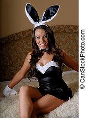 Brunette bunny girl
