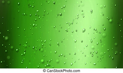 apple green juice - the bubbles floating up in the liquid of...