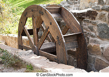 Water mill  - Old wooden water mill