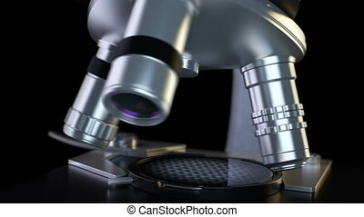 Microscopy (HD) - Microscope. Close-up view