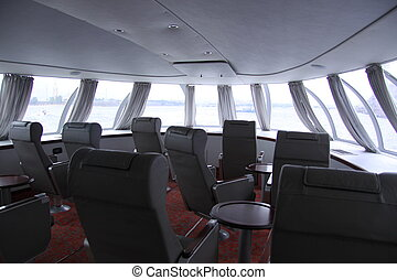 Hydrofoil, boat - inside hydrofoil /boat/ from St.Petersburg...