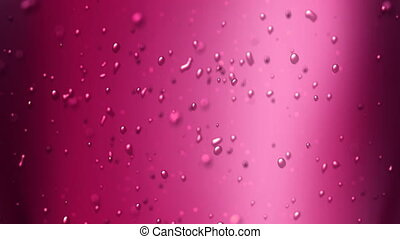cherry juice - the bubbles floating up in the liquid of soft...