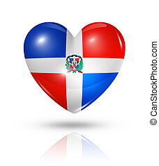 Love Dominican Republic, heart flag icon - Love Dominican...