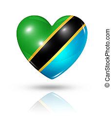 Love Tanzania, heart flag icon - Love Tanzania symbol 3D...