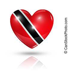 Love Trinidad And Tobago, heart flag icon - Love Trinidad...