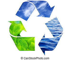 recycling symbol - environment conceptual recycling symbol...