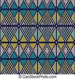 Style Seamless Knitted Pattern.Blue White Yellow Color Illustration from my large Collection of Samples of knitted Fabrics