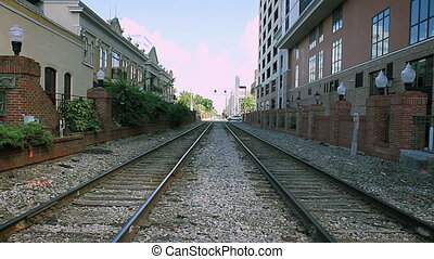 Train Tracks Downtown Orlando Florida