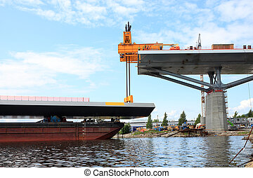 bridge lift from the bay from a barge Public project tax...