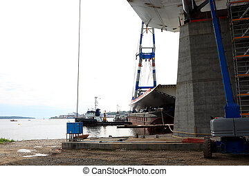 Bridge lift from the bay Public project tax financed:...