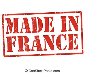 Made in France stamp - Made in France grunge rubber stamp on...