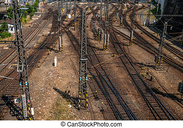 Railroad track points - View on railroad track points and...