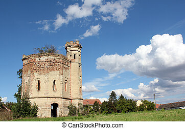 old castle ruin eastern europe