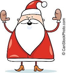 cute santa claus cartoon illustration - Cartoon Illustration...