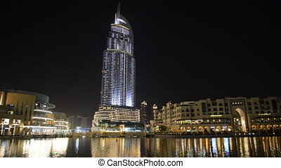 Night view on Down town of Dubai city