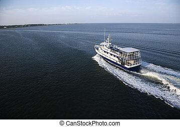 Passenger ferry boat. - Ferry boat transporting passengers...