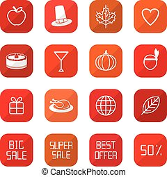 Sale Thanksgiving Icons