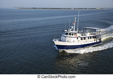 Passenger ferry boat. - Ferry boat transporting passengers...