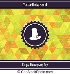 Thanksgiving Day Triangles Background - Thanksgiving Day...