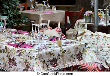 Beautiful restaurant table in Provence, France