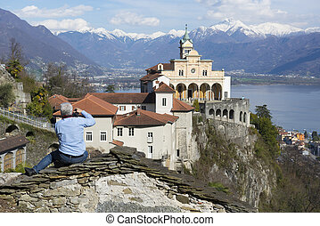 Church on the mountain - Church madonna del sasso in locarno...