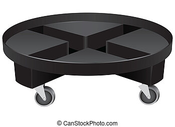 Round Planter Caddie - Round planter caddy on wheels made...