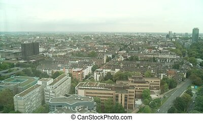 Duesseldorf Panoramic View - video footage of Duesseldorf in...