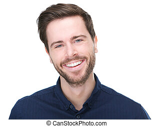 Portrait of a happy young male model smiling
