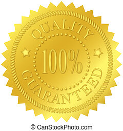 Quality Guaranteed Gold Seal - Quality guaranteed gold seal,...