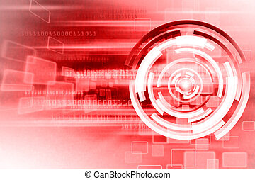 Red Technology Abstract background