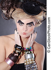Beauty woman with extreme make up
