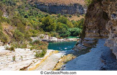 Laghetti di Cava Grande - View of Laghetti di Cava Grande in...