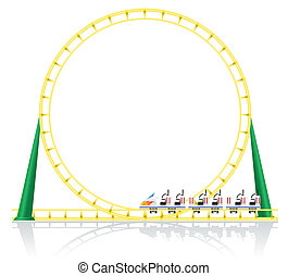 roller coaster vector illustration isolated on background