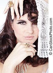 pretty woman with italian jewelry