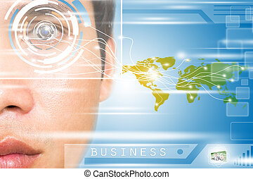 Virtual World 2025,Concept For Technology Background