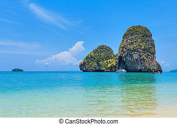 Ao Nang - Sea View from Ao Nang beach, Krabi, Thailand