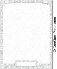 Hi-tech vector circuit board diploma frame