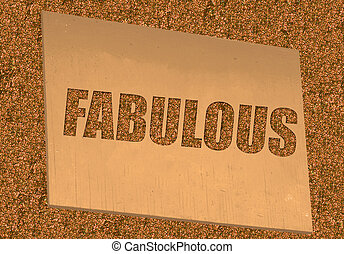 fabulous sign and gold glitter for a dazzling background