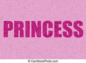 pink glitter princess - princess written in pink glitter
