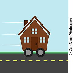 House Wheels  - House on the road on wheels