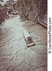 Khlong Saen Saep - Long tail boat transportation in Saen...