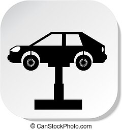 Auto repair shop sign. Vector illustration. eps 10