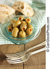 Stuffed olives - Olives stuffed with pimento