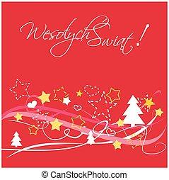Christmas vector polish card - Christmas vector card or...