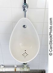 Urinal - Ceramic urinal for men in a public wc