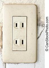 Socket, electrical outlet - Old socket, electrical outlet....