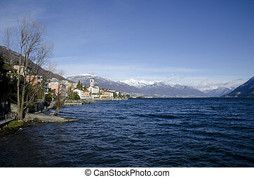 Village on the lakefront - Alpine village on the lakefront...