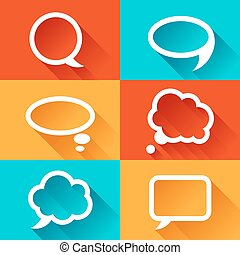 Set of speech bubbles in flat design style